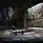 Exploration d'un donjon Concept Art de Skyrim