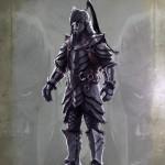 Guerrier orc Concept Art de Skyrim