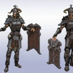 Guerriers Concept Art de Skyrim