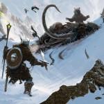 Créatures sous la neige Concept Art de Skyrim