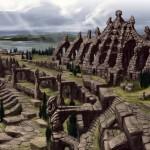 Ruines à ciel ouvert Concept Art de Skyrim
