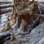 Ruines enneigées Concept Art de Skyrim