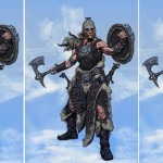Concept Art de Skyrim : trois guerriers