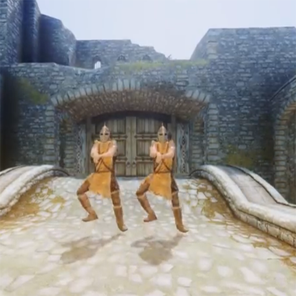 Gangnam Style Dance dans Skyrim